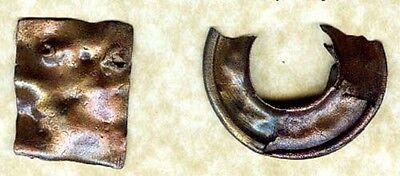 Genuine Ancient Roman Thrace (Bulgaria) Bronze Jewelry Bracelet Pin Plaque AD300 2