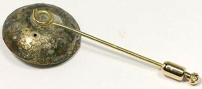 Ancient AD300 Roman Legionnaire Officer Gold-Plated Cloak Button (Now Stick Pin)