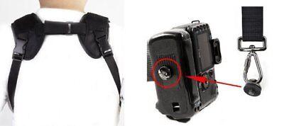 TRACOLLA per 2 FOTOCAMERE CINGHIA BELT FOR 2 camera DOPPIA ROBUSTISSIMA 3