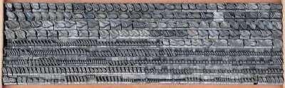 ADAGIO 7,5 mm Bleischrift Bleisatz Buchdruck Handsatz Bleiletter Steckschrift