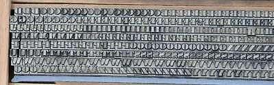 BODONI 4,5 mm Bleischrift Bleisatz Buchdruck Handsatz Lettern Bleiletter Drucken