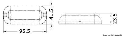 Luce subacquea a LED BIANCA/BLU faretto PLANCETTA  osculati nautica per barche 3