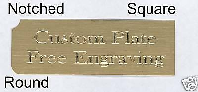 Custom Engraved Plate art-trophy-Taxidermy 1x3 Brass FREE ENGRAVING 2