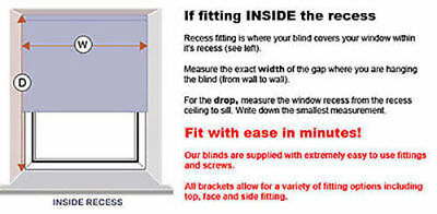 Mtm Made To Measure 100% Thermal Blackout Roller Blinds - Easy To Fit 4