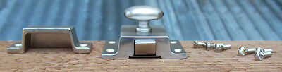 Reproduction Large Solid Brass Cabinet Latch ( Brushed Nickel) 4
