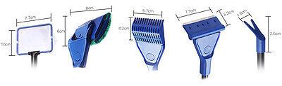 Aquarium 5in1 Extendable Cleaning Gravel Rake Algae Scraper Flant Fork Sponge 3 • EUR 15,28