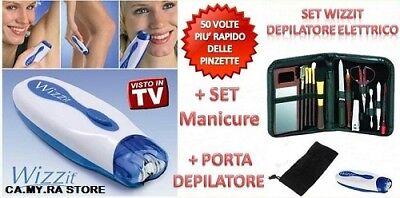 Rasoio Donna Epilatore Depilatore Wizzit Kit Estetica Set Manicure Pedicure 2