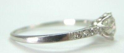 Antique Art Deco Vintage Diamond Engagement Ring Platinum EGL USA Ring Size 6.25 5