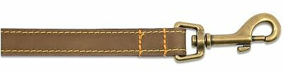 Ancol Timberwolf Round Sewn Leather Dog Collar Lead Sable Brown Blue Navy 4