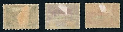 BELGIUM • Brussels 1897 Exhibition Labels (3) • Mint