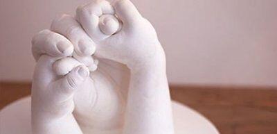 Kit per impronte 3D completo di accessori,alginato slow ,stampi di mani e piedi 3