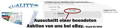 (0,58€/Ball) Aquality AQUABALLS Mikroorganismen.Das Erfolgsprodukt von der Messe 2