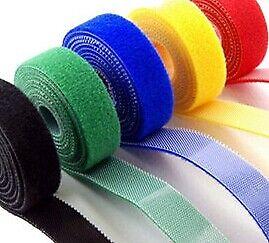 Klett, Microklett, Klettband, Klettverschluss, beidseitig, 20 mm, 6 Farben 3