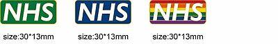 NHS STAFF ENAMEL PIN BADGE - Rainbow , Blue , White , Black . Pink , Green 2