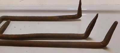 4 Hand Forged Iron Pennsylvania Barn Hardware Hooks Nut Screw Nail door hinge
