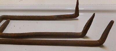 4 Hand Forged Iron Pennsylvania Barn Hardware Hooks Nut Screw Nail door hinge 6