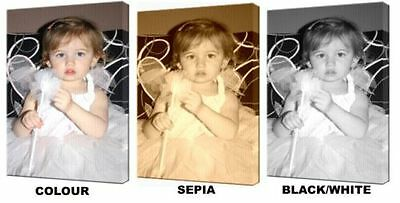 "YOUR PERSONALISED PHOTO PICTURE PRINT on to a Box Canvas A1.30""x20""~Deep Frame 4"