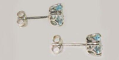 2 Antique 19thC 1ct Topaz Ancient Persian Magic Amulet Gemstones Sterling Studs 3
