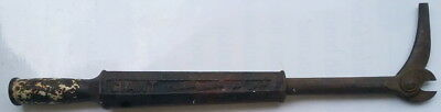 """Antique 19th Century Smith & Hemenway Co, NYC, GIANT Nail Puller 1879 1881 7""""rul 2"""