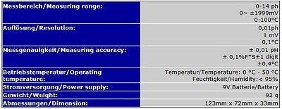 Ph / Redox / Temperatur Messgerät Meter Chlor Pool Teich P05 5