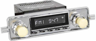Retrosound Laguna Black Classic Car Euro Classic Spindle Style Radio with Aux In