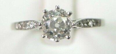 Antique Art Deco Vintage Diamond Engagement Ring Platinum EGL USA Ring Size 6.25 3