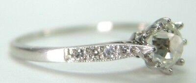 Antique Art Deco Vintage Diamond Engagement Ring Platinum EGL USA Ring Size 6.25 4