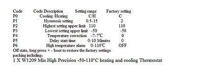 Termostato Termómetro Sonda Regulador Control Temperatura Interruptor 12v