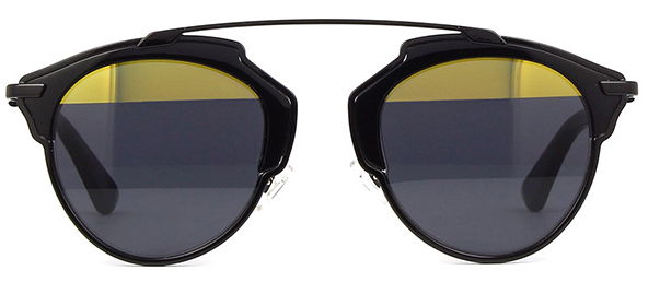 2f82c085db9 Christian Dior SO REAL BOYT1 Black Sunglasses Gold Grey Lens NEW Italy  Authentic 2 2 of 3 ...