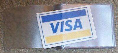 USA Quality 2x Vinyl Trifold Wallet Insert 6 Page Credit Card KeyTab FAST SHIP
