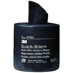 """Scotch-Brite� Multi-Flex Abrasive Sheet Roll 07521 General Purpose 8"""" x 20' 7521 2"""
