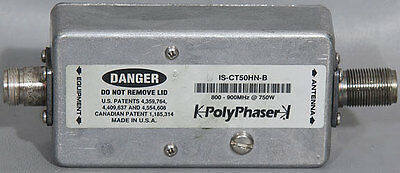 PolyPhaser IS-CT50HN-B Cellular/Paging Combiner Coaxial EMP/Surge Protector 2