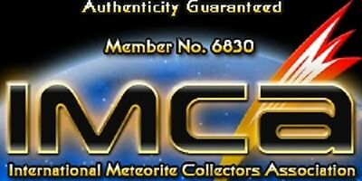 BASIC EDITION- AUTHENTICATED LUNAR METEORITE- 5mg Moon Rock Display+Certificate 4