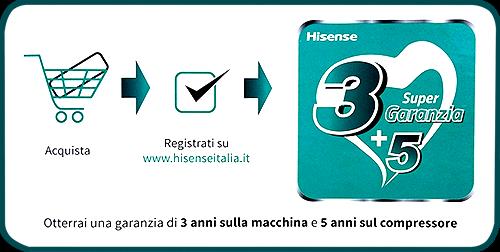 Climatizzatore Condizionatore Hisense New Comfort R32 Dual Split 7 7 9 9 12 Wifi 5