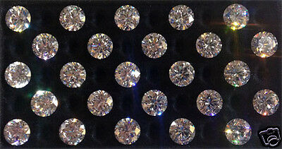 Cubic Zirconia CZ Hearts /& Arrows Ideal Cut Brilliant Rounds Loose Gemstones