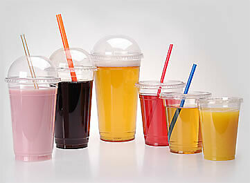 1000 Milkshake & Smoothie Cups With Dome Lids 5