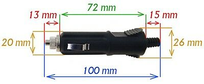 Stecker für Zigarettenanzünder 0-24V 10A mit LED & Sicherung Neu