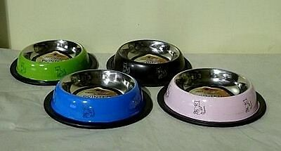 Small Coloured Stainless Steel Cat / Kitten Bowl Very Stylish CBO 03 2 • EUR 3,93