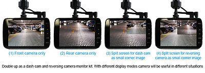 """Elinz Dash Cam Dual Camera Reversing 4"""" Recorder Car DVR Video 170° 1296P 32GB 4"""