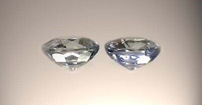 Two19thC Antique 1/3ct Sapphire Medieval Gem Saturn Agriculture Justice Strength 5