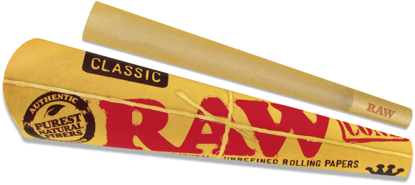 4x RAW Pre-Rolled Classic Cones - Total 12 Cone Papers King Size Joint Blunt 2