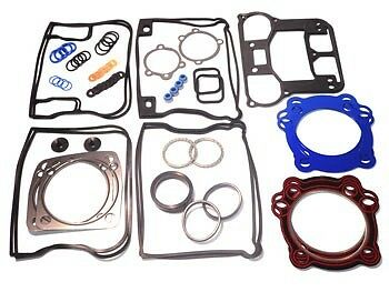 stock Harley Evo 1340 BIG BORE Upper//Top End Gasket Set w//Teflon+Carbon Head 84-99