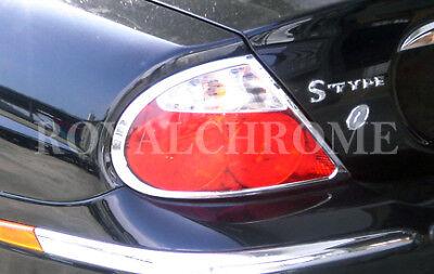 US Seller Rear Light Surrounds 2x for JAGUAR S Type 04-08 Facelift ROYAL CHROME