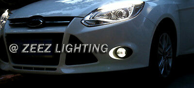 LED Projector Fog Driving Lamp w/ DRL Daytime Running Light For Cars Trucks SUVs 12