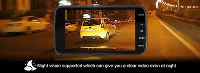 """Elinz Dash Cam Dual Camera Reversing 4"""" Recorder Car DVR Video 170° 1296P 32GB 12"""