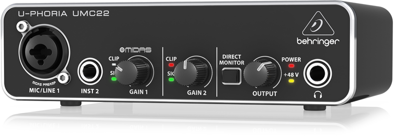 Behringer UMC22 U-PHORIA Audio Interface 3