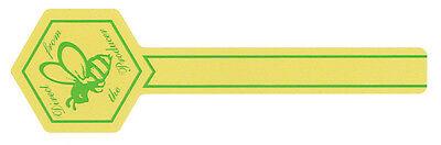 1000 x Inviolable étiquettes sécurité Idéal pour miel bocaux. Plusieurs couleurs