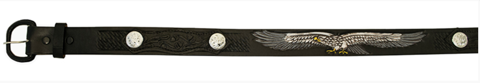 c1f08bb41a2a CEINTURE WESTERN COUNTRY en cuir noir avec aigle. - EUR 35,00 ...