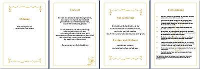 Festzeitung Goldene Hochzeit Goldhochzeit Blumenranke