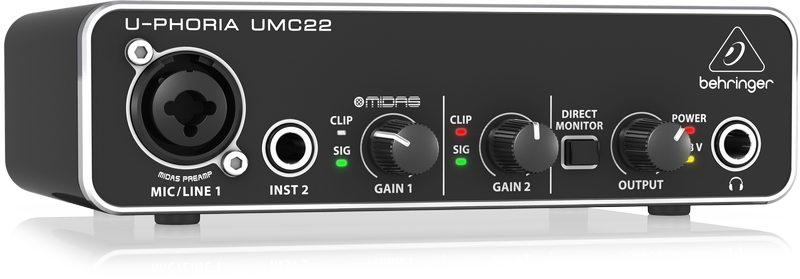 Behringer UMC22 U-PHORIA Audio Interface 2
